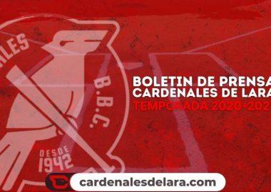 boletín de prensa cardenales de lara